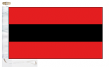 Albania Civil Ensign Courtesy Boat Flags (Roped and Toggled)